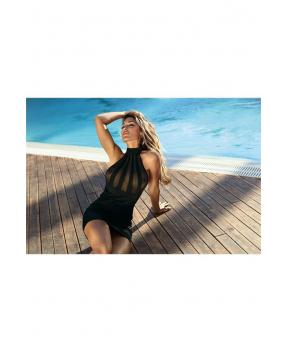 Robe noir club V-9149